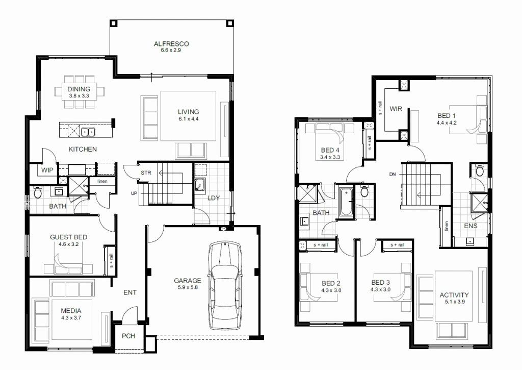 Five Bedroomed House Plans Fresh Beautiful 5 Bedroom Double Storey House Plans New Home 5 Bedroom House Plans House Plans Two Story House Plans