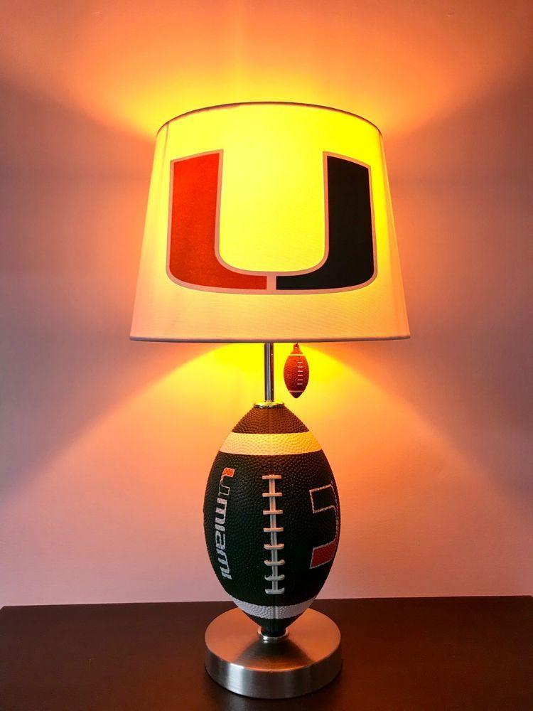 Miami hurricanes football lamp hurricanes light college