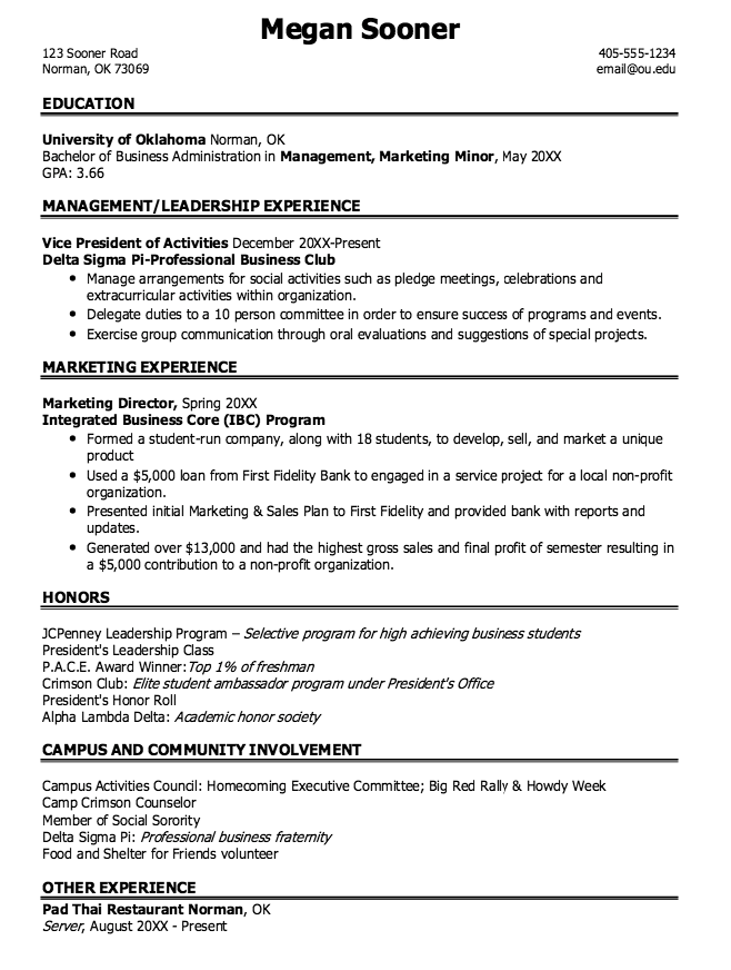 Marketing Resume Skills Marketing Management Sample Resumes  Httpexampleresumecv