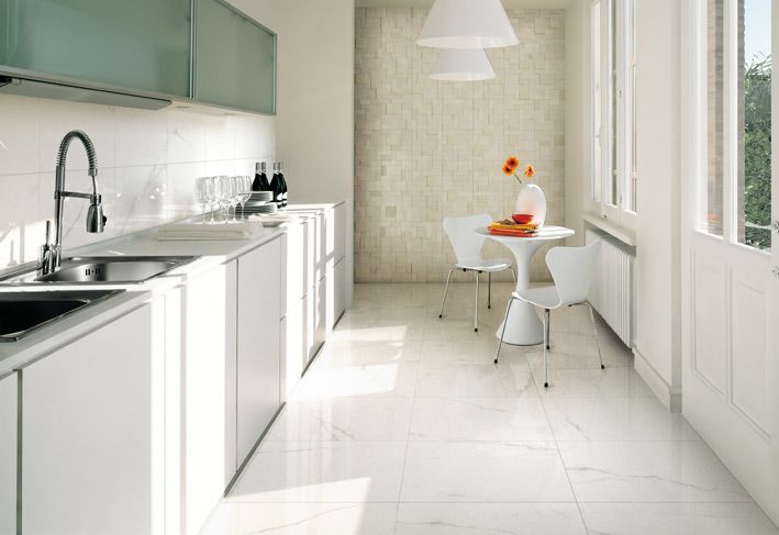 Top To Toe Ceramic Tiles White Tile Kitchen Floor White Kitchen