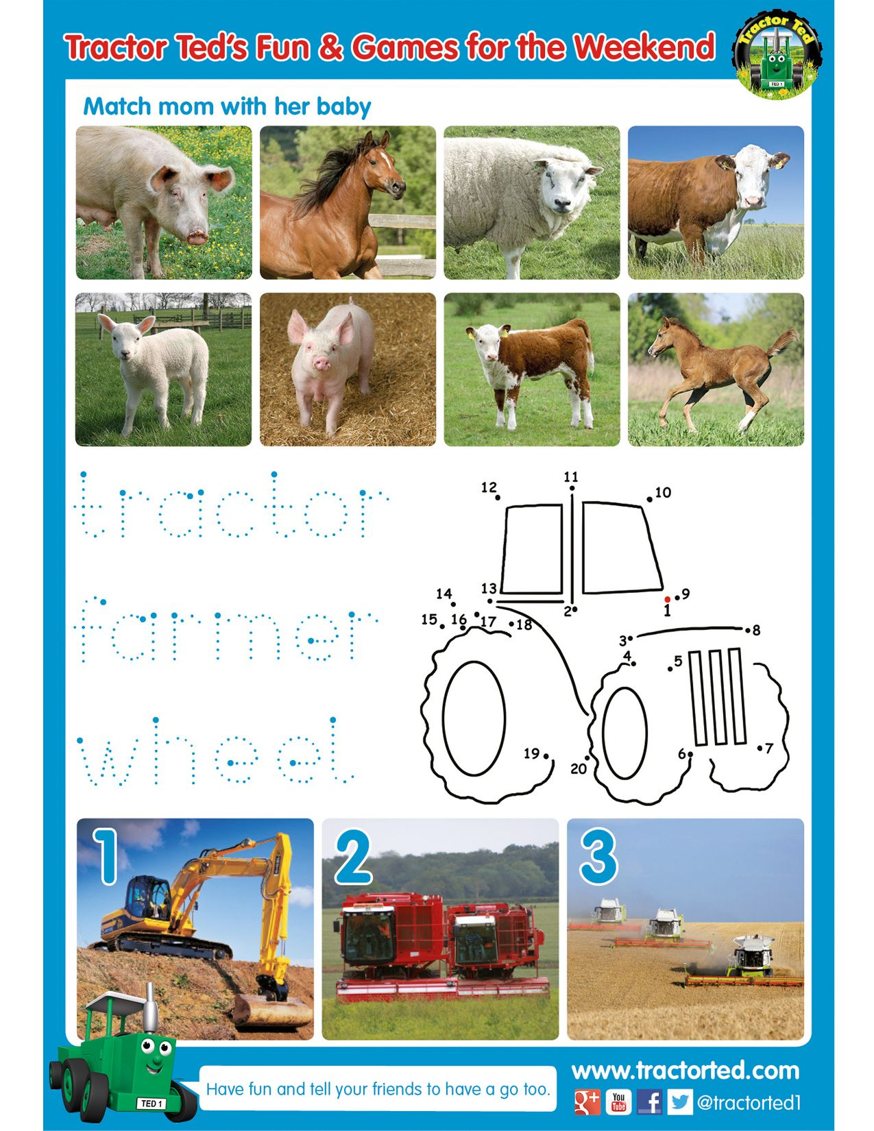 It S Friday Fun Day So Here S Another Free Printable Activity Sheet For Your Tractor And Farm