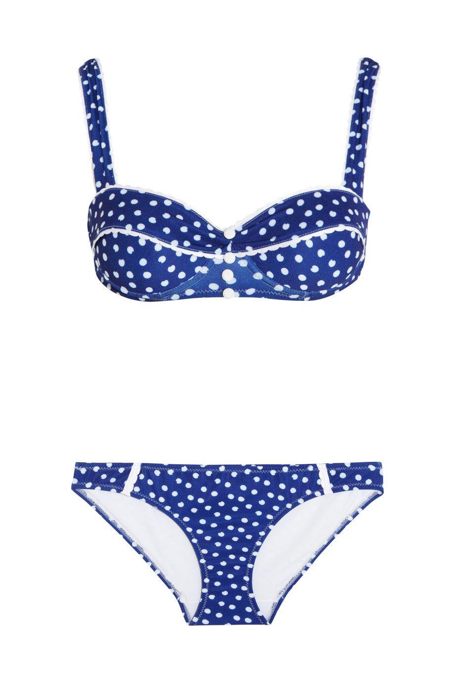 Rosamosario|Polka Dots Loca underwired bikini|NET-A-PORTER.COM