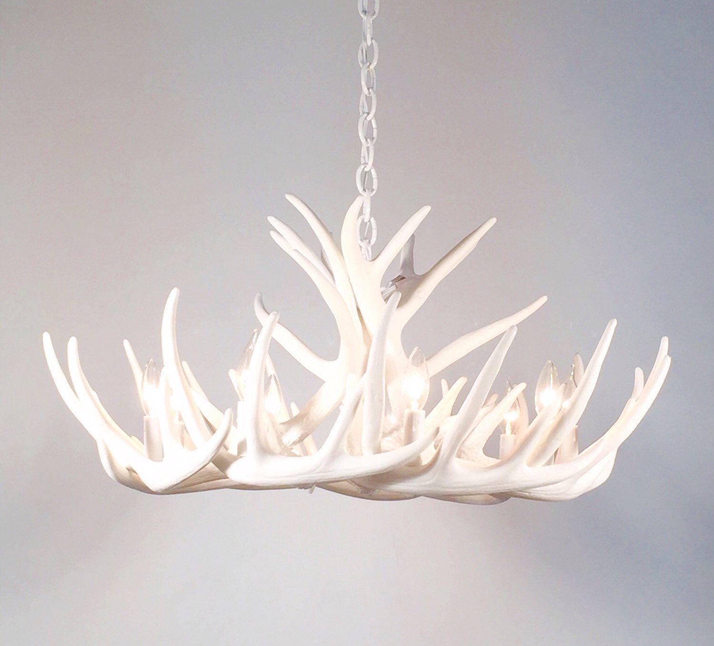 white antler chandelier faux antler chandelier w12c by