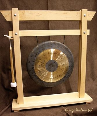 """14"""" Chau Gong on Wooden Girl Stand"""