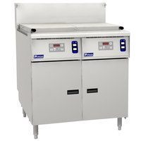 Pitco SRTG14-2-D 17.5 Gallon Two Section Gas Rethermalizer with Digital Controls - 110,000 BTU
