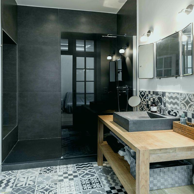 20 carrelage carreau de ciment salle de bain castorama. Black Bedroom Furniture Sets. Home Design Ideas