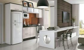 Cozinha americana em casas ou apartamentos pequenos