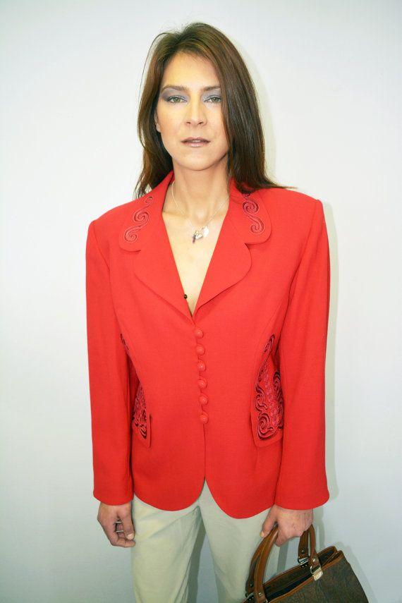 c967dc0f0e5a2 Vintage Jacket   EQUIVOQUE PARIS   Red   by LESVINTAGEUNICORN ...