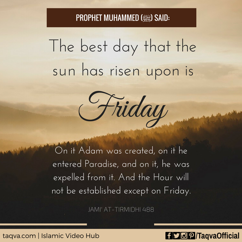 "Best Day Quotes Images: #ProphetMuhammed ﷺ Said: ""The Best Day That The Sun Has"