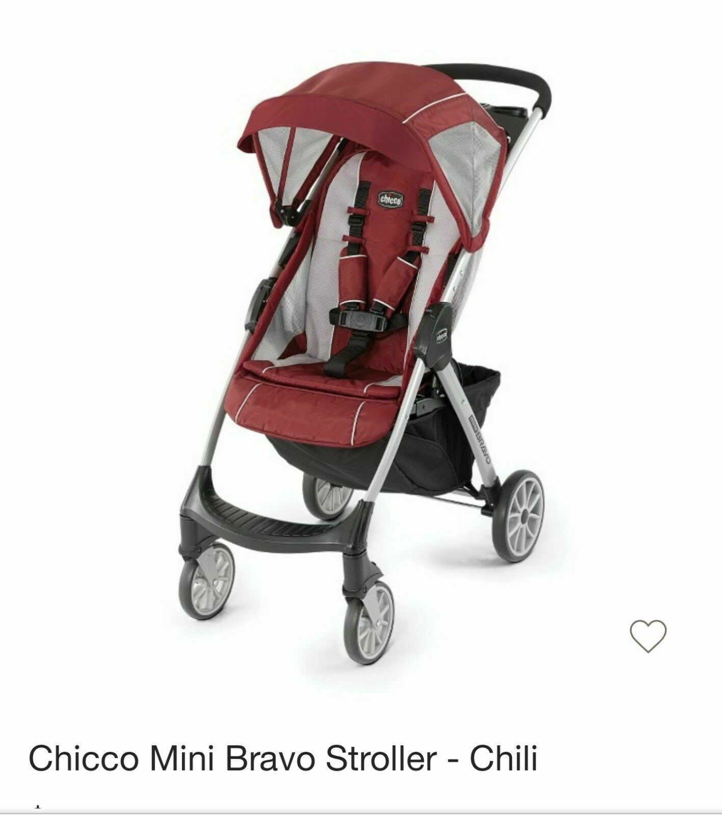 Chicco Mini Bravo lightweight stroller Chilli