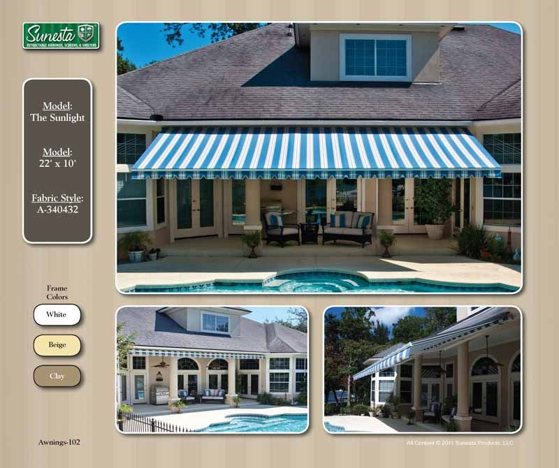 Nc Retractable Awning Sunesta Gallery Atlantic Breeze