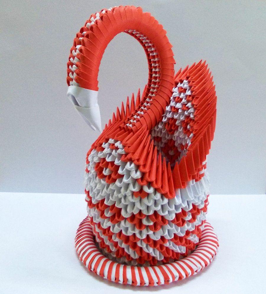 3d Origami 3d Origami Red Swan By Designermetin On Deviantart