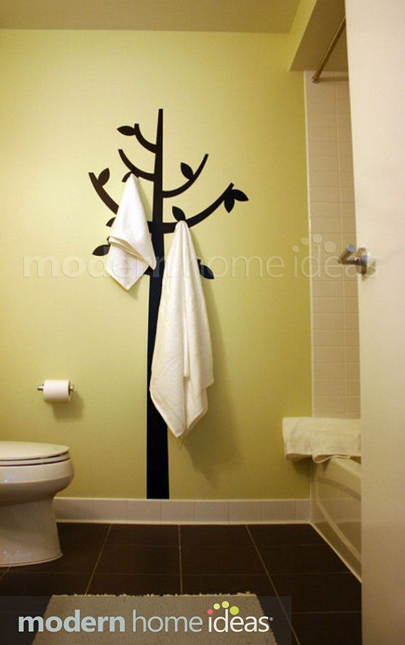 What a fun alternative to a standing coat rack! Coat Hanger with ...