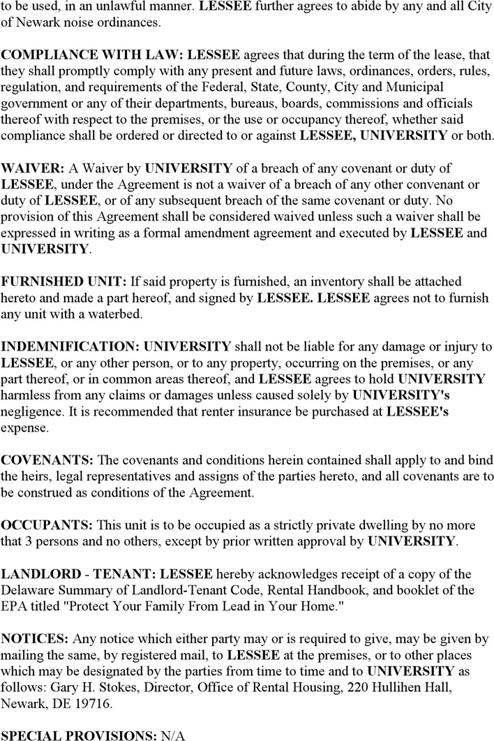 Delaware Rental Agreement Samole Lease Form Download Free Printable Rental Legal Form Template Or Waiver In Different E Legal Forms Lease Rental Application