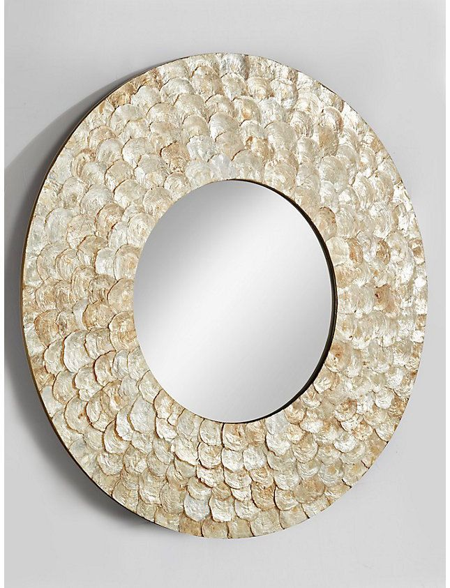 Popular Spiegel rund Wandspiegel Wanddeko Wandschmuck Wohnzimmer Badspiegel natur