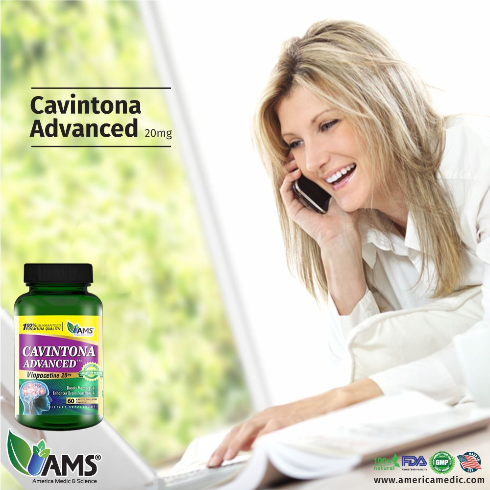 Cavintona Advanced, a dietary supplement formulated by AMS