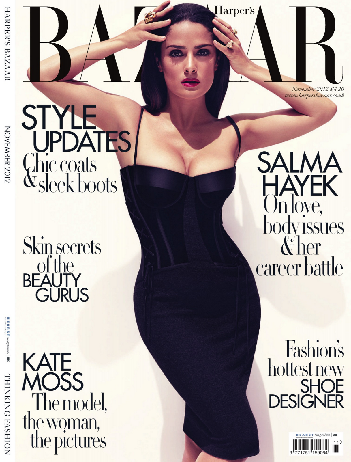 Salma Hayek Harpers Bazaar, November 2012 nude (57 photos), Bikini Celebrites pics
