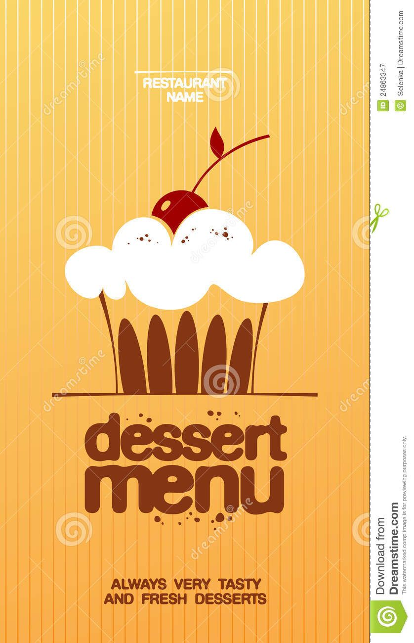 Dessert Menu Templates Dessert Menu Card Design Template