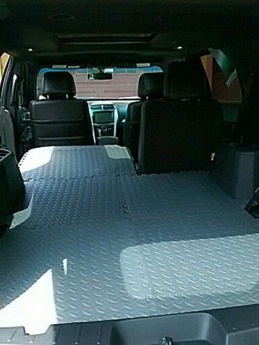 Easy way to dog proof your SUV We got those puzzle piece exercise mats at the f Easy way to dog proof your SUV We got those puzzle piece exercise mats at the f