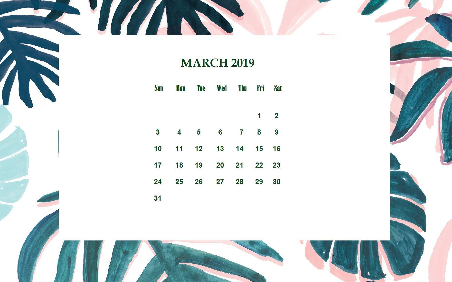 March 2020 Desktop Calendar Wallpaper Calendar Wallpaper