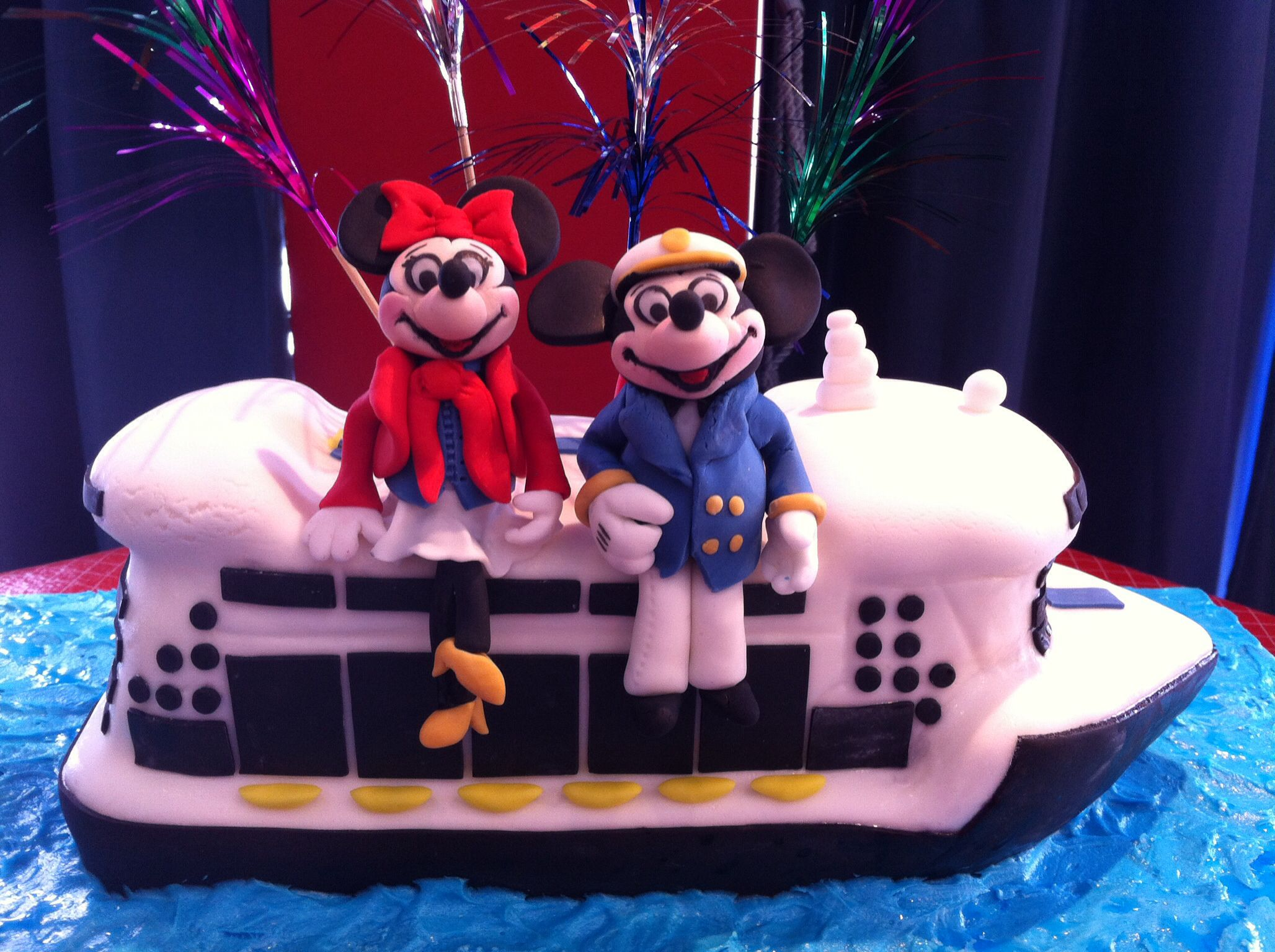 Mickey Minnie Mouse on Disney Cruise ship cake Cakes by Alisa