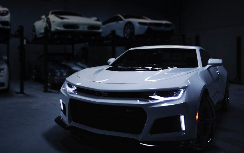 Wallpaper Chevrolet Camaro Zl1 White Car Front Chevrolet