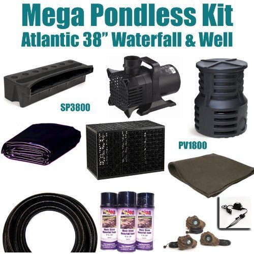 15 X 35 Mega Pondless Waterfall Kit 10 000 Gph Hybrid Mag