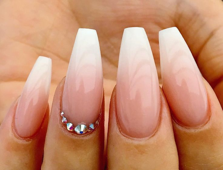 """Tips N Flicks Nails on Instagram: """"Ombré for days �️ beautiful wedding nails ️ #acrylicnails #glitternails #nailporn #nailsofinstagram #nailtech #nailgasm #nailpromote…"""""""