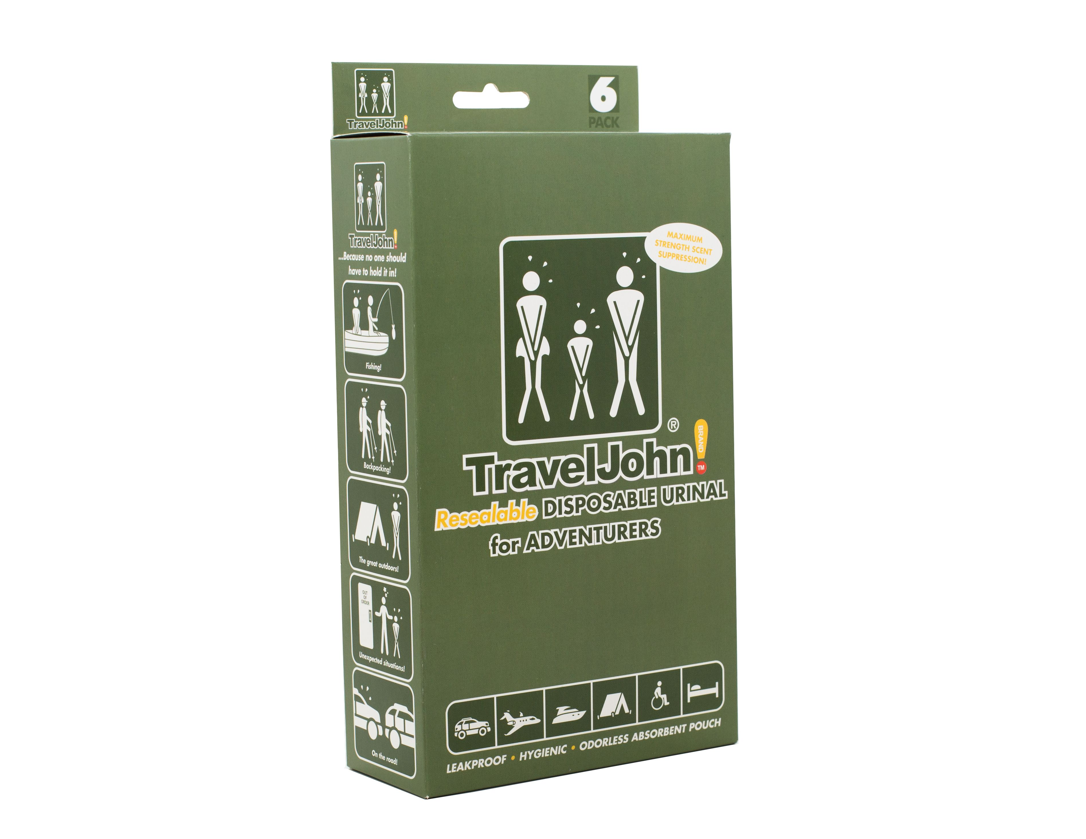 Hygienic Portable Urinals for Traveling Non-Toxic Odorless Travel Jane Emergency Bathroom Kit for Women Hiking 1pk - 18 Count Camping Disposable