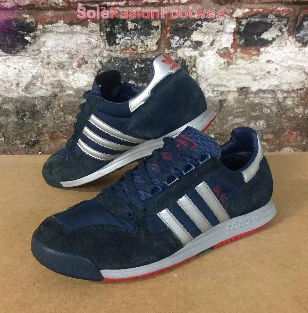 adidas Originals Mens SL80 Trainers Blue size UK 10 Rare Sneakers ...