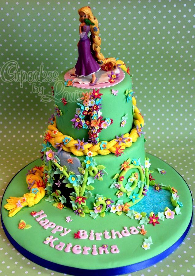 Rapunzel cake Birthday Cake Ideas Pinterest Rapunzel cake