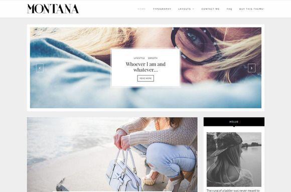Clean Wordpress Blog Montana By Lucalogos On Creativemarket