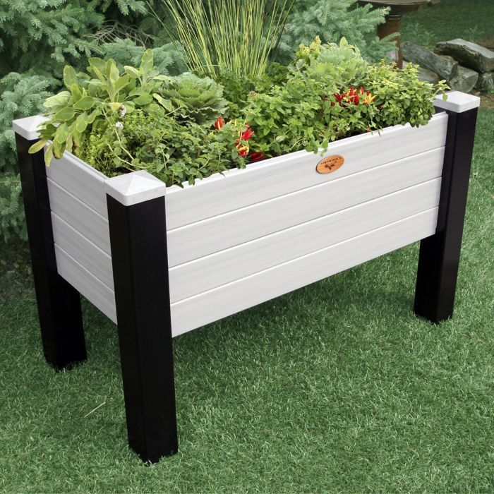 "Maintenance Free Elevated Garden Bed 24""x48""x32""- 12.5"" D"