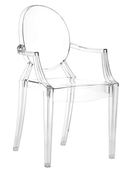anime dining chair in transparent polycarbonate set of 4 dining