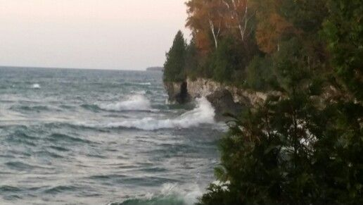Waves at Cave Point