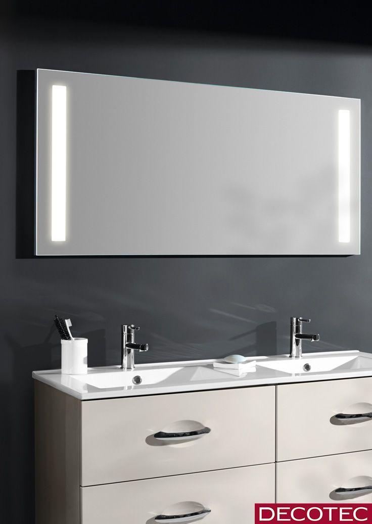 Decotec La Collection De Miroir Anti Buee Major 120 Cm Eclairage Led Avec Soit 1 Bandeau Horizontal Soit 2 Ba Miroir Anti Buee Miroir Salle De Bain Anti Buee