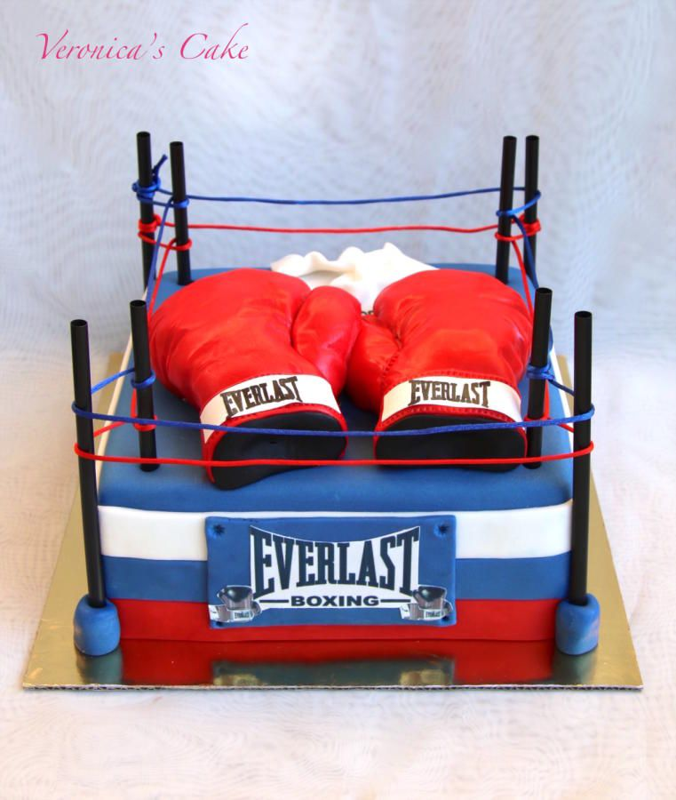 Surprising Boxing Cake Cake By Veronica22 With Images Cool Birthday Funny Birthday Cards Online Hendilapandamsfinfo