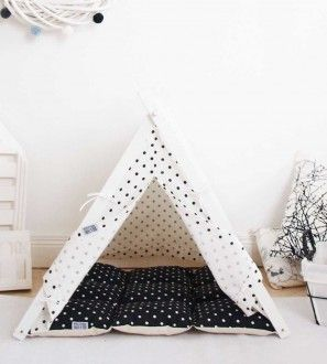 panier chien tipi blanc et noir fashion pinterest. Black Bedroom Furniture Sets. Home Design Ideas