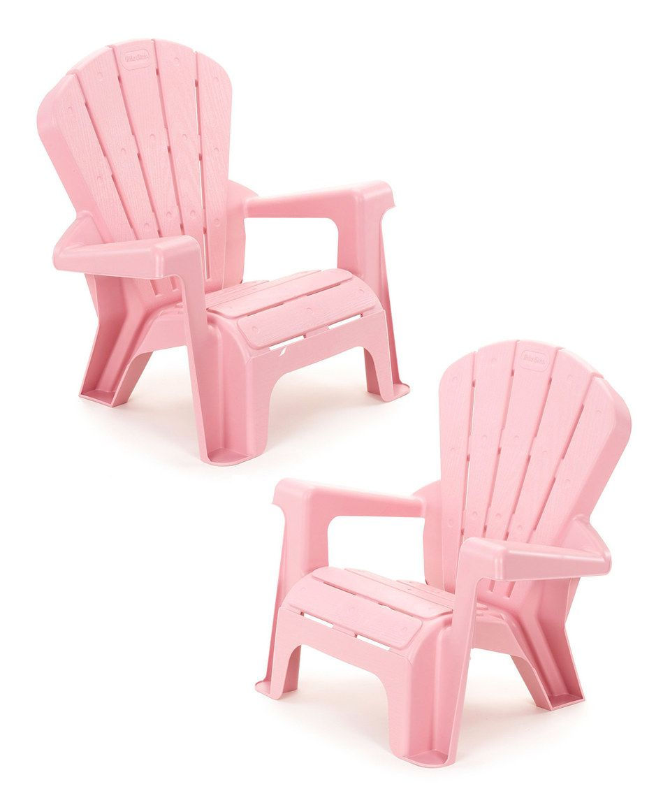 Another great find on #zulily! Little Tikes Pink Garden Chair - Set of Two by Little Tikes #zulilyfinds
