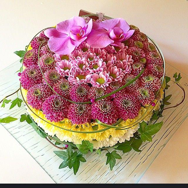 #blommor #examen #tårta #flowers #flower #cake