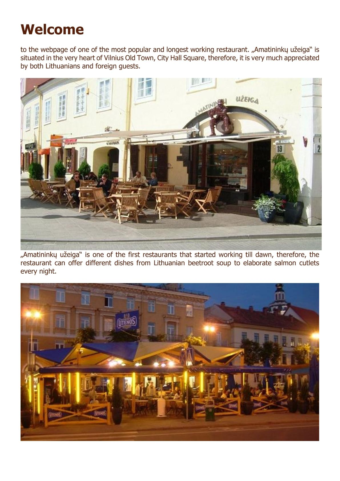 About us Amatininkai www.amatininkai.lt/welcome/ #about us #restaurants #info