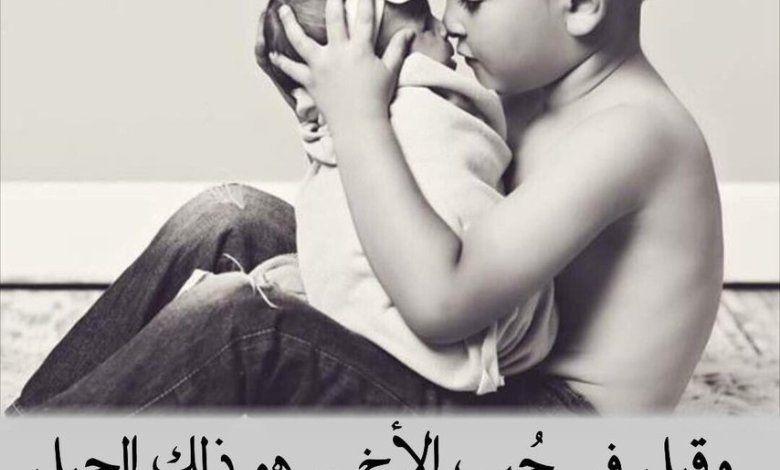 قصيدة عن الاخ ابيات شعر مؤثرة عن الشقيق Holding Hands