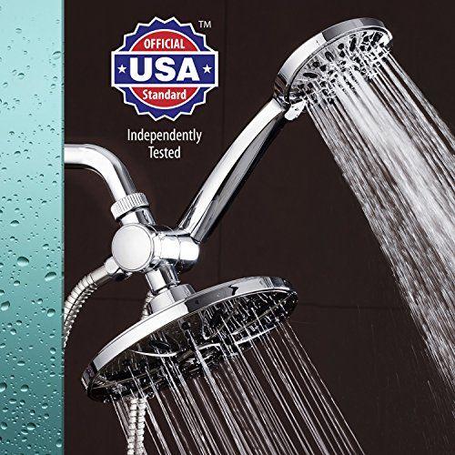 Aquadance 7 Premium High Pressure 3 Way Rainfall Shower Combo
