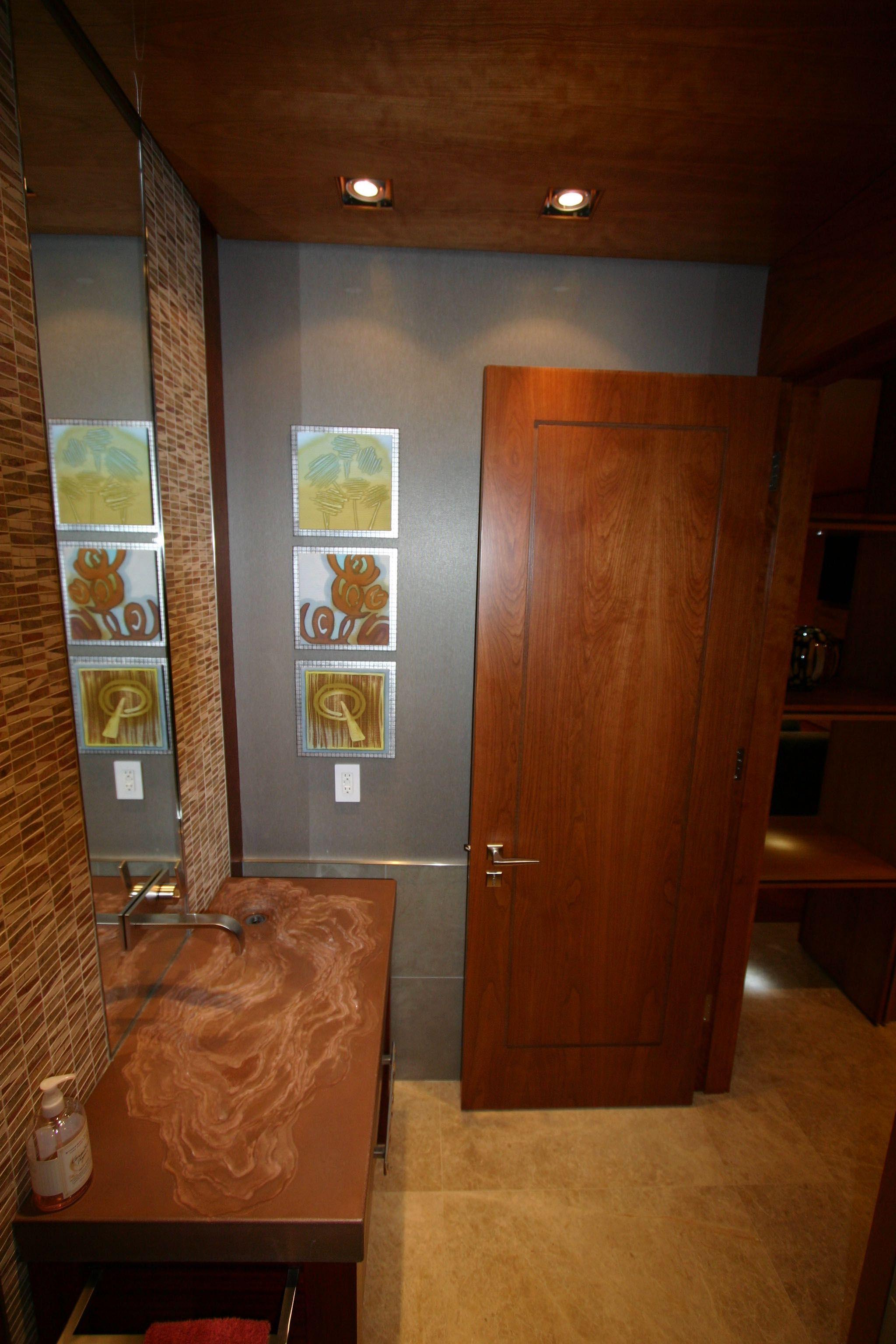 River flow sink. Custom built bathroom by Ferguson Fine Homes ...