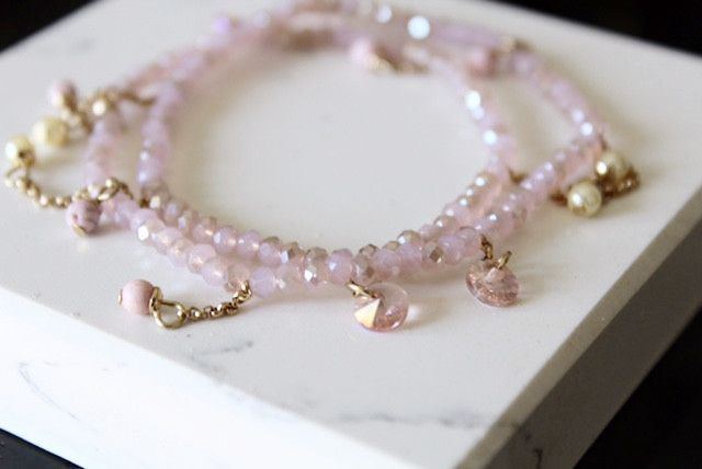 Pale Pink Charm Bracelet