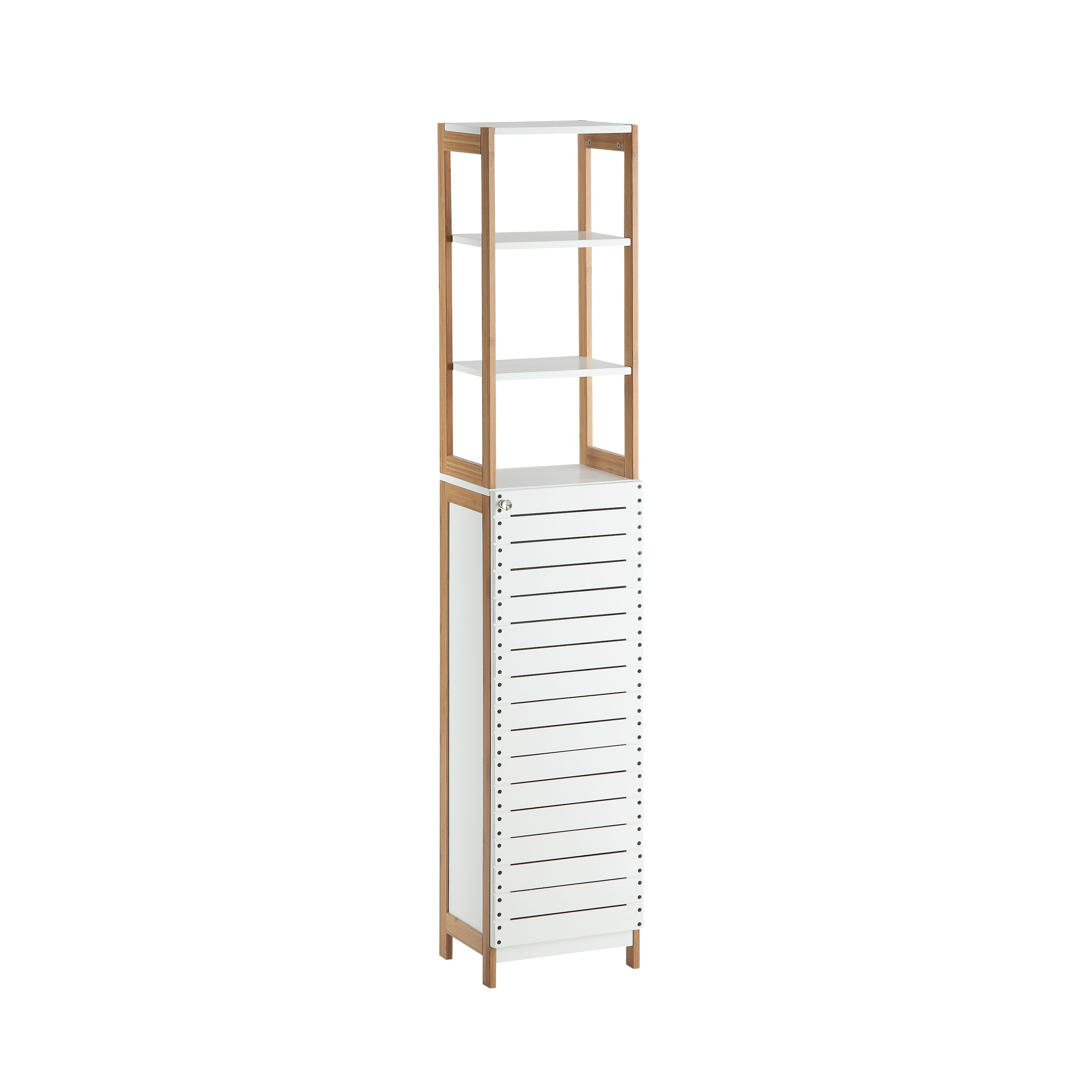 Organize It All Rendition White /Metal High Cabinet
