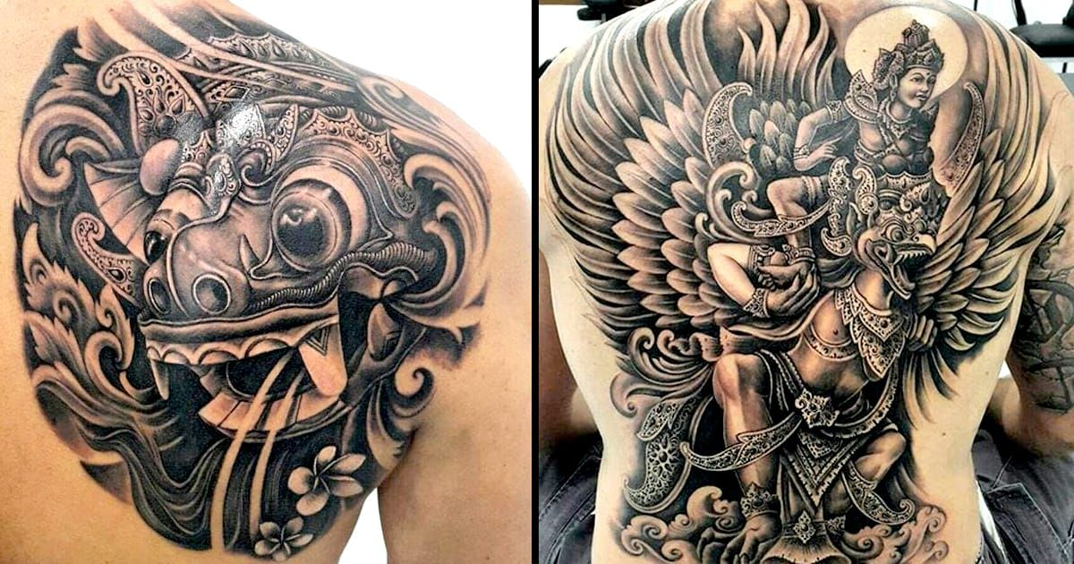 Black and Grey Balinese Tattoos by Pa'udy Bali Balinese
