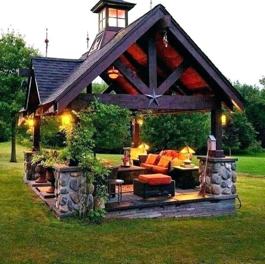 47 attractive and unique gazebo ideas that you must know outdoor living backyard outdoor on outdoor kitchen gazebo ideas id=83029