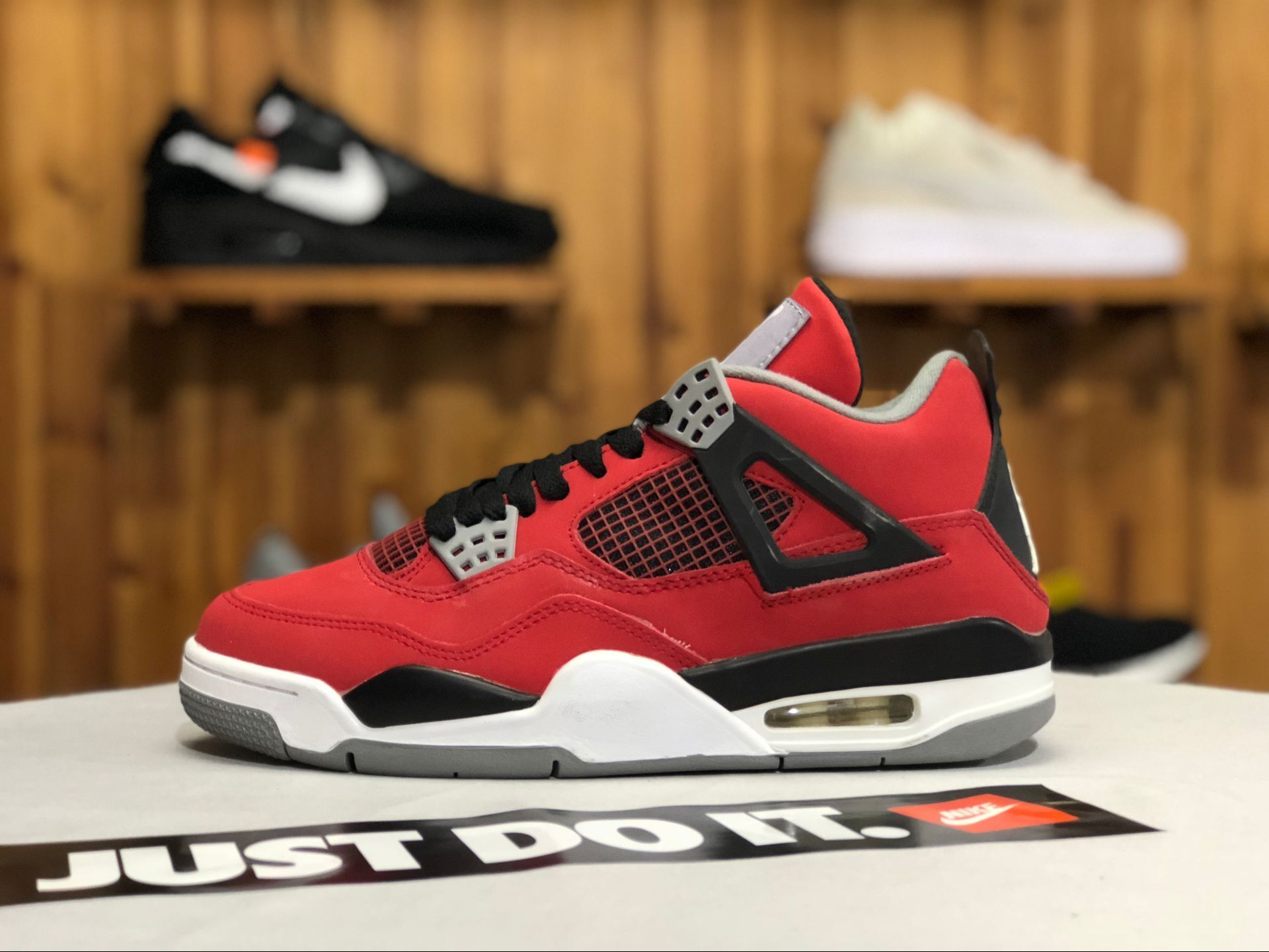 16efed3ab3c 2019 New Releases Air Jordan 4 Retro Toro Bravo Fire Red White-Black ...