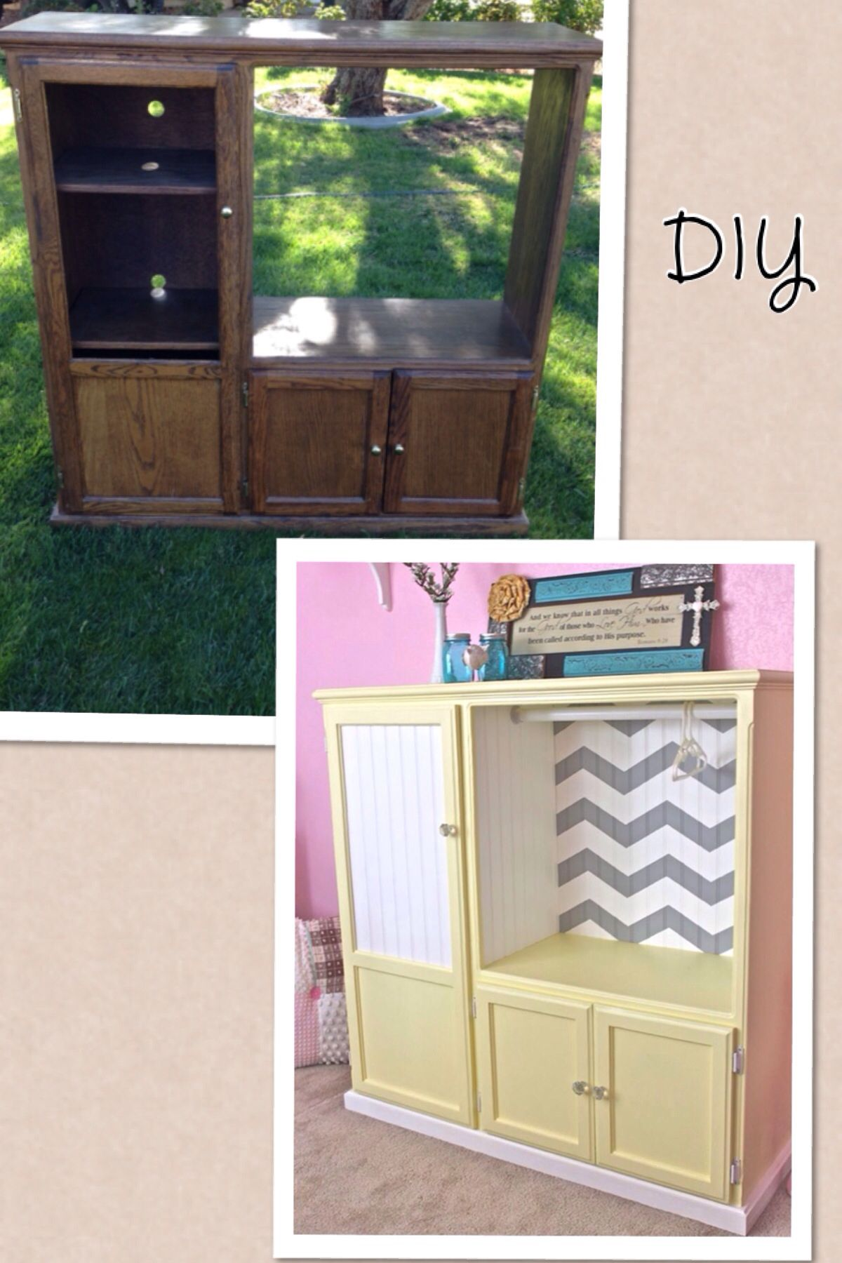 Diy Baby Armoire Out Of An Old Entertainment Center